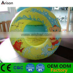 Customized color printed inflatable round single swim ring inflatable water ring for children