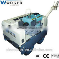 Walk Behind Vibratory Roller WKR600 mini CE high quality good double drum road roller