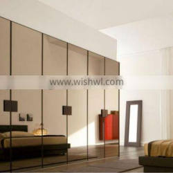 Bronze glass wardrobe door with EN12150 and ANSI certficate