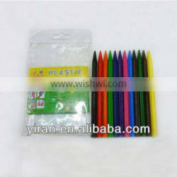 12 Pcs Childern's Plastic Crayon in PE Bag