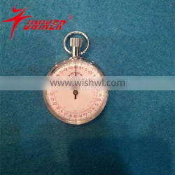 15 munites 6 hours mechanical stopwatch with button pause