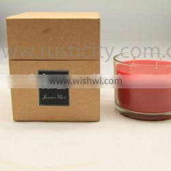 Good quality handmade soy wax scented candle for home decor