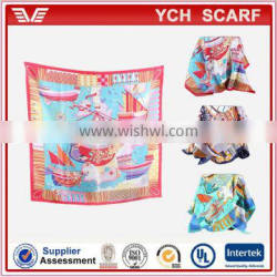 Wholesale Ladies digital printing wholesale new twill silk scarf