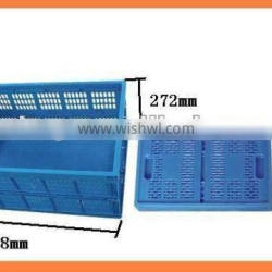 Plastic perforated folding crate