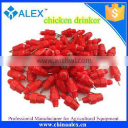 high quality poultry farm stainless steel red nipple chicken drinker for sale