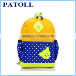 Simple design dot child school bags and backpacks