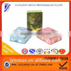 Recyclable feature promotional Customized tin packing box Rectangular tin can box cosmetic package tin can supplier