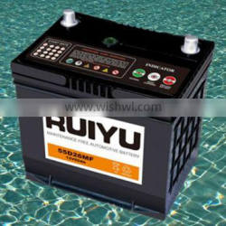 Hot export high quality 60AMP CAR BATTERY