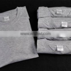 Heather grey t-shirt men size sublimation blank Cotton or Polyester