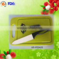 high quality kitchen ceramic knife set with cutting board