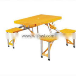 yellow dining table and chair folding table