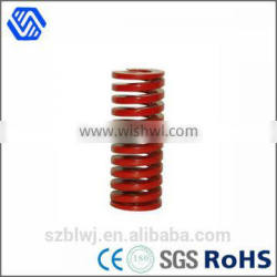red spray high tension flat coil helical spring