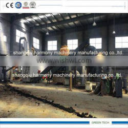 Continous plastic pyrolysis recycling equipment zero pollution