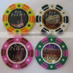 3-tone star sticker poker chip