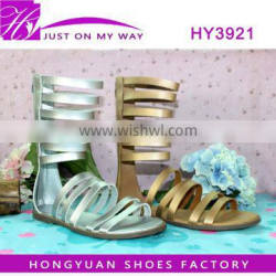 high quality comfortable flat heel sandals for ladies