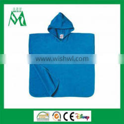 Cheap promotional velour cotton kids towel poncho for beach