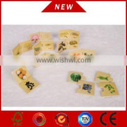 2015 new wooden puzzle, wooden match game for education