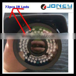 72PCS IR Leds IP66 Manual Zoom Lens Sony 700TVL Vandalproof CCTV IR Bullet Camera