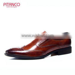 New style Brown Brnished leather mens formal shoes