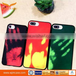 2017 New Design Fashion Heat Sensitive color changing mobile phone case for iphone 7
