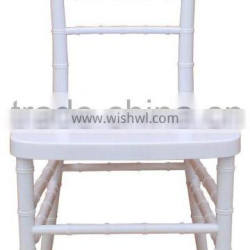 Hot sale white resin stackable wholesale banquet chiavari chateau chairs