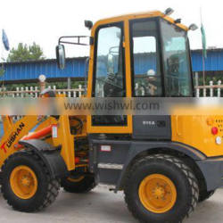 Best price 1.6 ton mini loader with ce, small turning radius and flexible moving machine for sale