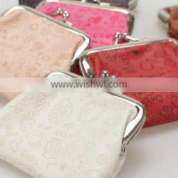 New cute PU coin purse bag with emboss pattern