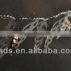 Halloween outdoor decorative metal butterfly string light