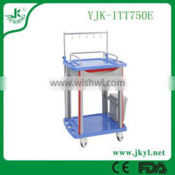 YJK-ITT750E 2016 high quality medical instrument trolley with drawers for first air