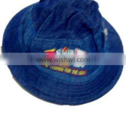 high quality fashion boy embroidered jean bucket cap