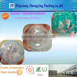 Clear Transparent Plastic Ball Pit balls with CE mark