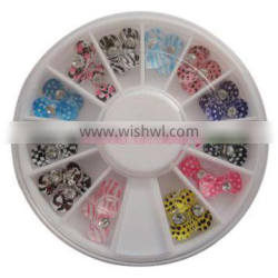 3D Nail Art ,Nail Resin Bow With Rhinestone