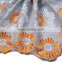 swiss lace african fabrics high quality 2015
