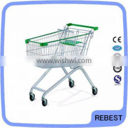 Zinc plated surface handling and shopping cart type supermarket