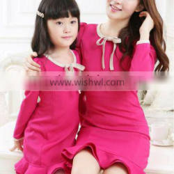 fashion parent-child outfit, mother and daughter dress clothing sets