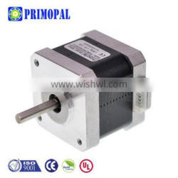 1.8 degree 4 wire 1.3A 1.7A 2 phase 40mm length 40N.cm Square nema 17 stepper motor shaft options Single double round D-cut