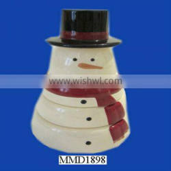 2013 new stackable wholesale custom snowman shaped Measuring Cup