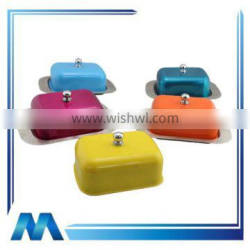 Colorful stainless steel christmas butter dish