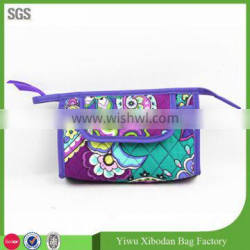 special design quilted fashion printed travel cosmetic bags for women