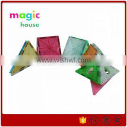 Hot sales Children's popular environmental magnetic toy / Magnetic Tiles Building Set 51 Piece many colours