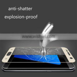 HOT 0.2MM 3D Complete Cover Tempered Glass Screen Protector For Galaxy S7 G9300 Anti-explosion 9h Glass PROTECTOR THERMAL Curved