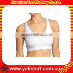 OEM high quality white scoop neck spandex tight sports lady gym tank top