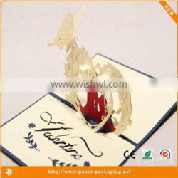2016 hot sale traditional 3d pop up greeting card valentine cards