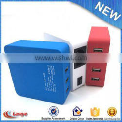 China gift items multi phone 4 port usb wall charger with cable