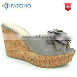 ladies wedge sandals made in suede leather