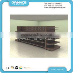 Wooden and Metallic Gondola Supermarket Dispaly Shelving Stand
