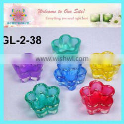 glass flower candle holder for filling wax
