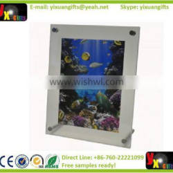A6 clear frame counter standing, Factory price beautiful curved acrylic photo frame