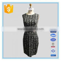 Ladies Fashion Cotton Spandex Frocks Casual Dresses With Belt