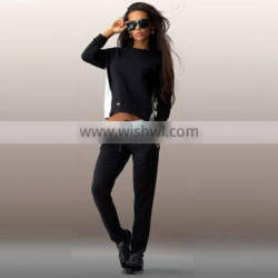2016 New Ladies Clothing Sets Sweatshirt Hoodie Sport Long Sleeve Back Zipper Splicing Women Tracksuits Sport Suits 2PCS Set